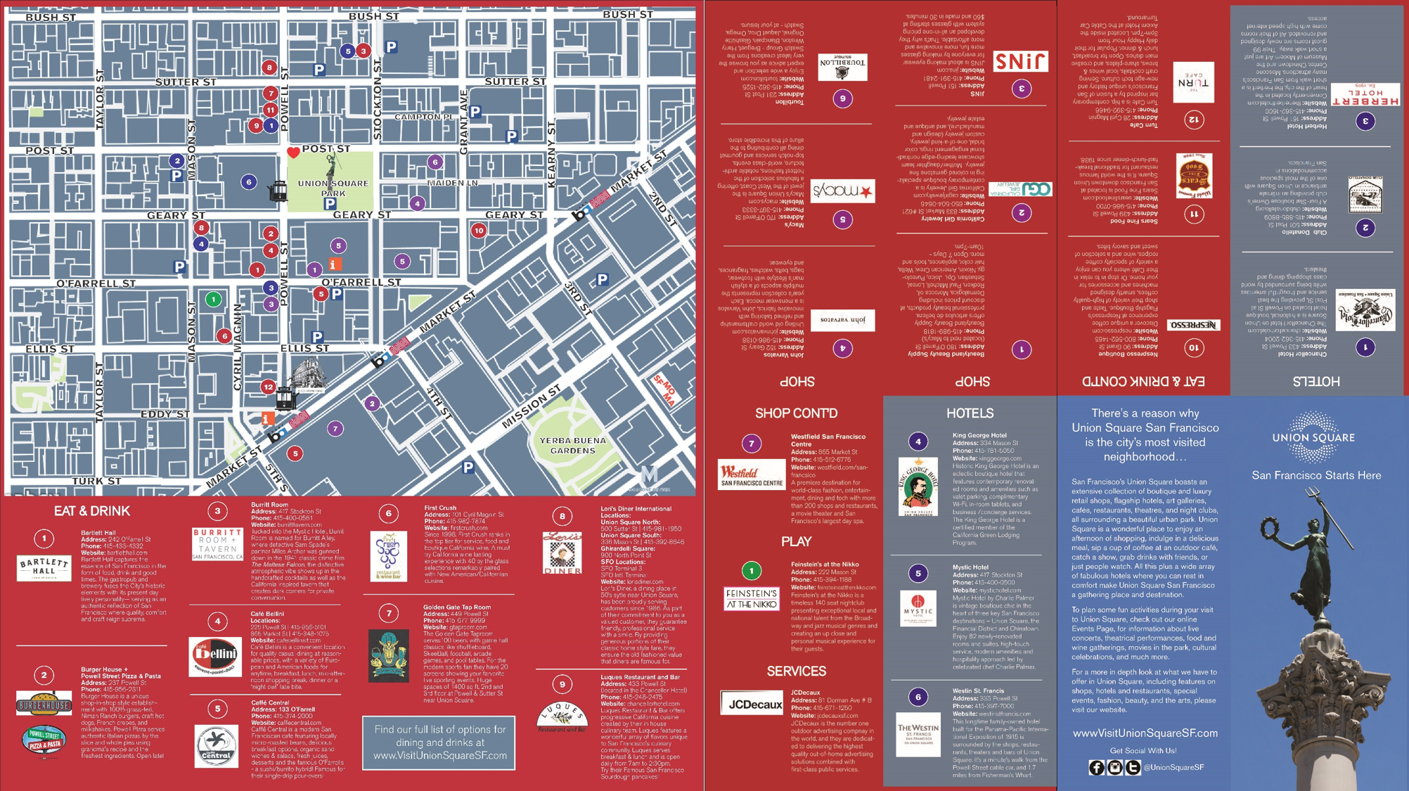 Click Here To The 2016 Edition Of Union Square Map