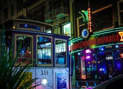Sam's Cable Car Lounge in Union Square, San Francisco
