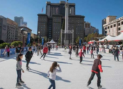 The Safeway Holiday Ice Rink in Union Square