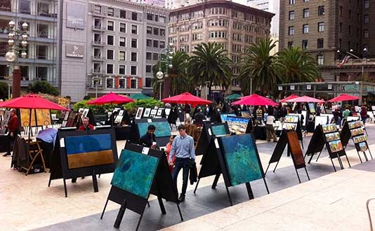Art Galleries in Union Square, San Francisco