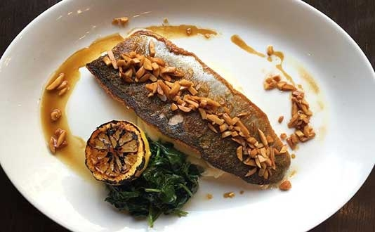 398 Brasserie's Pan Seared Trout