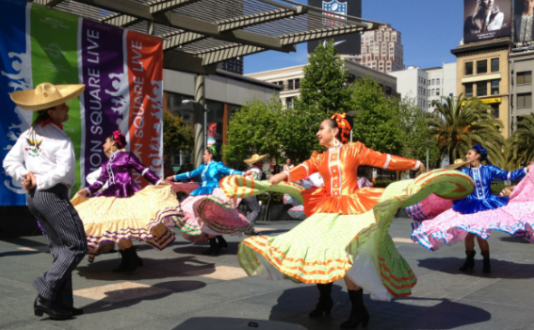Ballet Folklorico in Union Square Park