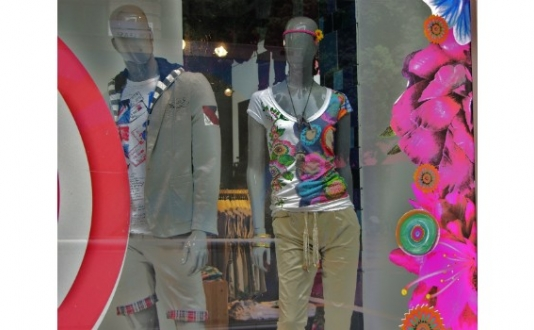 Fashion at Desigual in Union Square, San Francisco