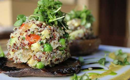 First Crush's Stuffed Portobello Mushroom