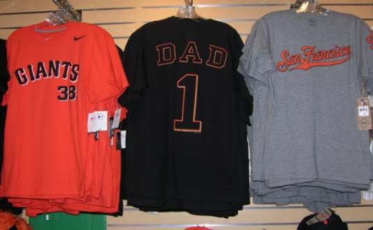 Giants Shirts, Union Square, San Francisco, Geary St.