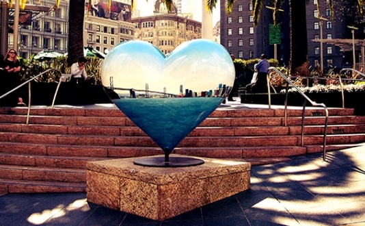 Hearts in Union Square SF