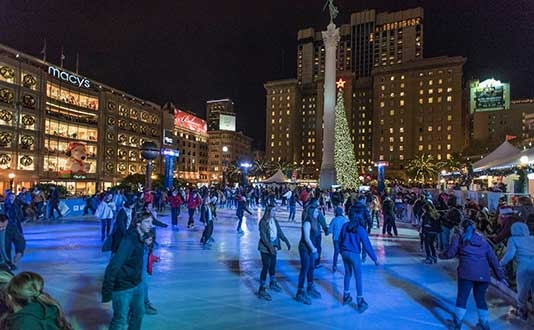 Safeway Holiday Ice Rink in Union Square presented by Alaska Airlines