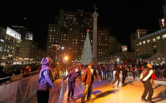 Ice Skating, Union Square, Holiday Events