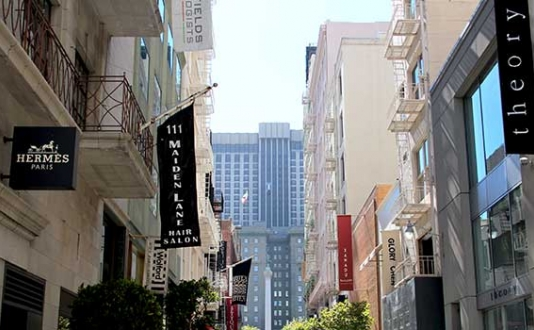 Maiden Lane in Union Square SF