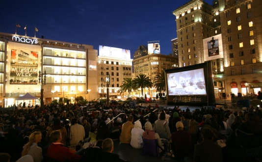 Film Night In Union Square Park