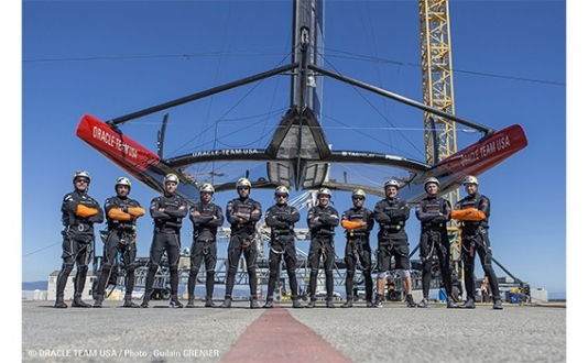 Oracle Team USA in The 2013 America's Cup