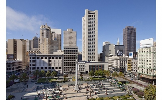 Union Square Park and Grand Hyatt SF