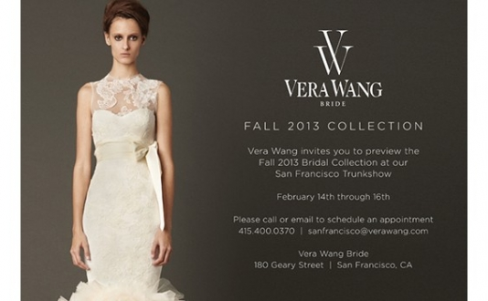 Vera Wang Trunk Show, Union Square SF