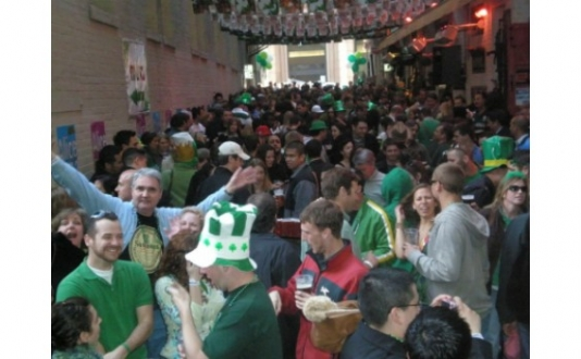 St. Patty's Day at the Irish Bank