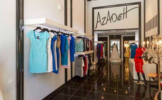 Inside Azadeh Couture Union Square SF