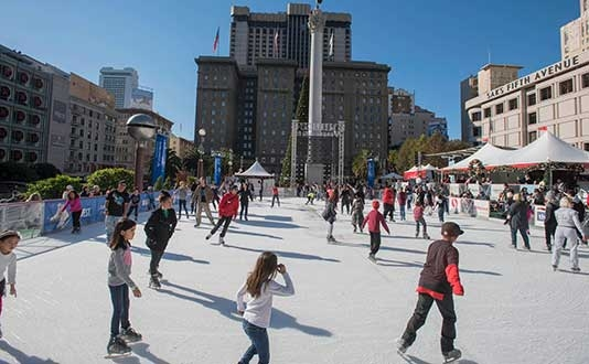 The Safeway Holiday Ice Rink in Union Square presented by Alaska Airlines