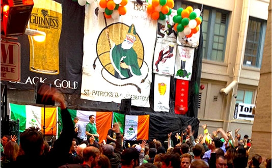 The Irish Bank's Annual St Patrick's Day Block Party