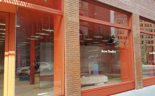 Acne Studios in Union Square, San Francisco