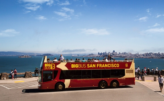 Big Bus Tours at Union Square, San Francisco
