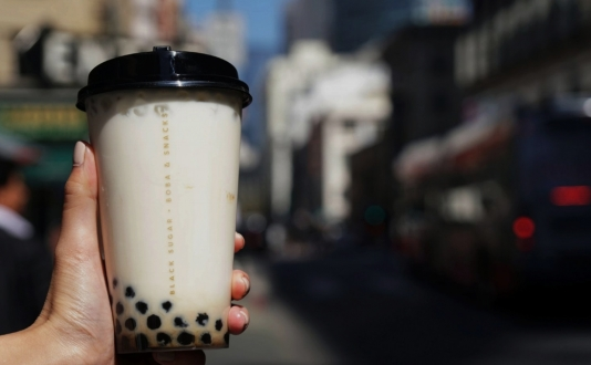 Black Sugar Boba at Union Square, San Francisco