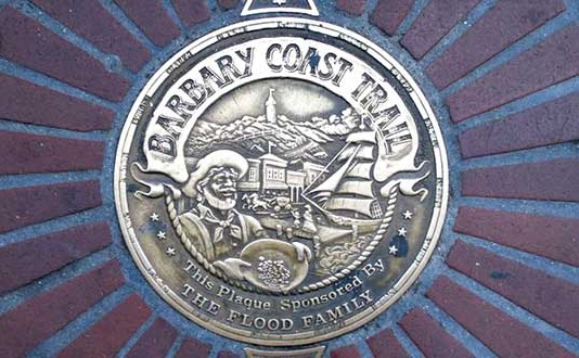 The Barbary Coast Trail at Union Square, San Francisco