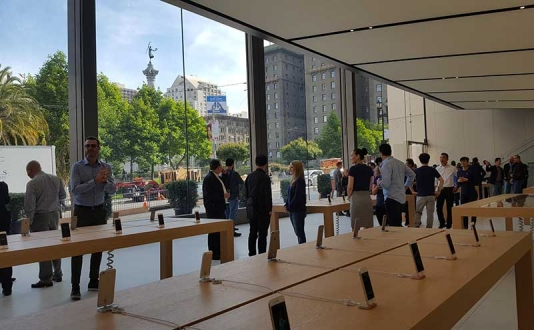 Apple Store in Union Square, San Francisco