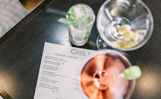 Cable 55 Restaurant and Bar at the Parc 55 in Union Square, San Francisco