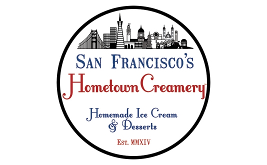 Side view of SF Hometown Creamery Ice Cream Truck