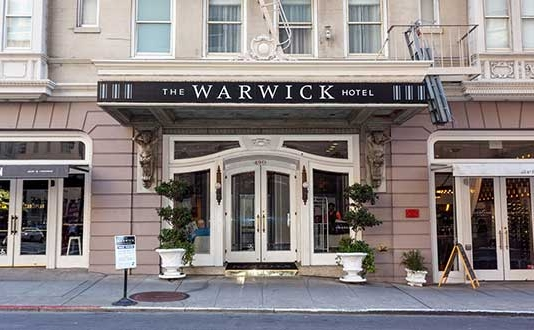 Warwick Hotel in Union Square, San Francisco