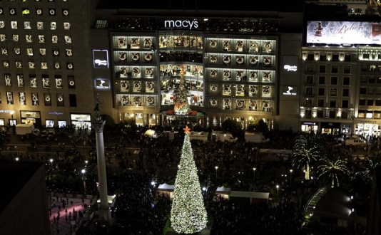 Macy's Great Tree in Union Square, San Francisco