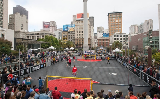 Street Soccer USA - Union Square Cup on Union Square Park in San Francisco