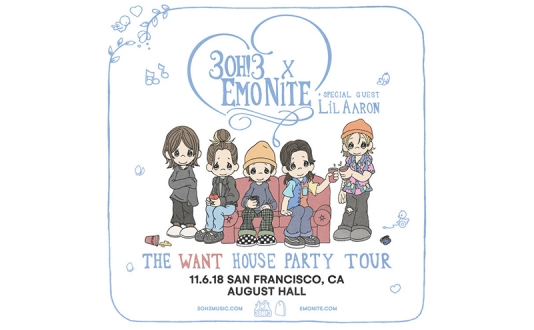3OH!3 and Emo Nite: The Want House Party Tour at the August Hall in Union Square, San Francisco
