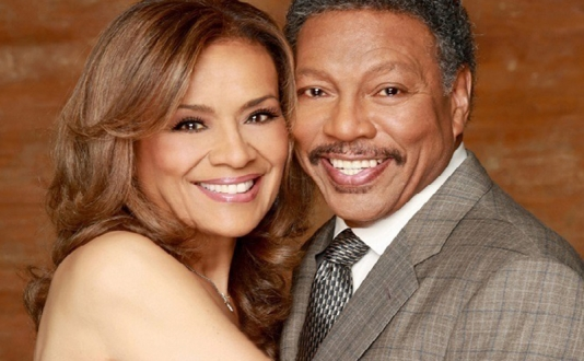Marilyn McCoo and Billy Davis Jr. at the Feinstein's at the Nikko in Union Square, San Francisco