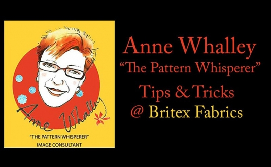 Tips and Tricks from Anne Whalley, the Pattern Whisperer at Britex in Union Square, San Francisco