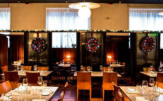 Christmas Eve Dinner at the Burritt Room + Tavern in Union Square, San Francisco