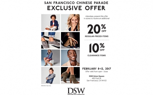 San Francisco Chinese New Year Parade Exclusive Offer at DSW