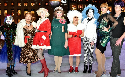 Drag Queens on Ice at the Safeway Ice Rink in Union Square, San Francisco