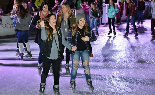 Flashback Fridays presented by iHeart80s @ 103.7 at the Safeway Holiday Ice Rink in Union Square, San Francisco