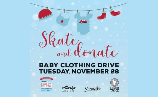 Giving Tuesday: *Skate & Donate* Baby Clothing Drive at the Safeway Holiday Ice Rink Presented by Alaska Airlines in Union Square Park, San Francisco