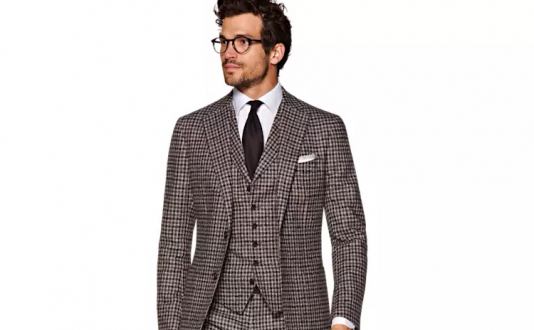 Truly Pronounced: NEW Havana Brown Check Suit at Suitsupply in Union Square, San Francisco