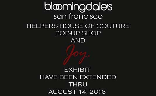 Helpers House of Couture Pop-Up Shop at Bloomingdale's