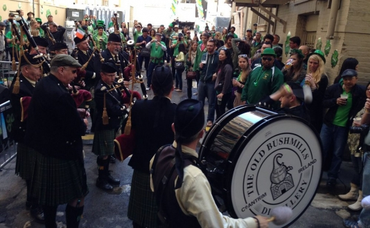 St. Patrick's Day Parade, Saturday Block Party at the Irish Bank in Union Square, San Francisco