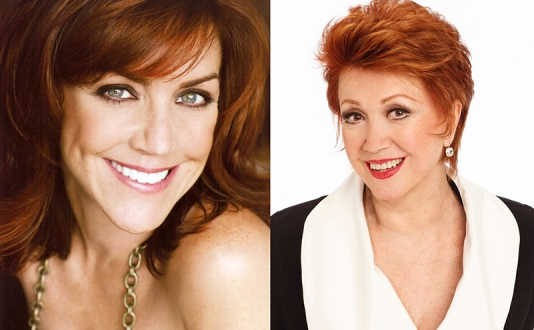 Andrea McArdle and Donna McKechnie at Feinstein's at the Nikko in Union Square, San Francisco