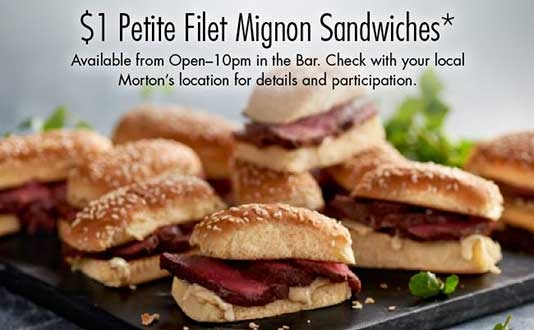 $1 Filet Mignon Sandwiches at Morton's The Steakhouse