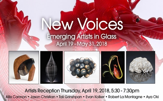New Voices - Emerging Artists in Glass at Montague Gallery in Union Square, San Francisco