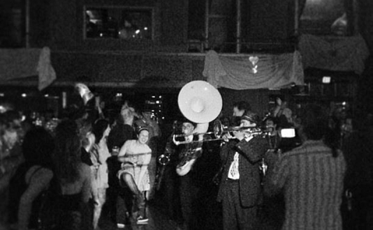 North Beach Brass Band at Biscuits and Blues in Union Square, San Francisco