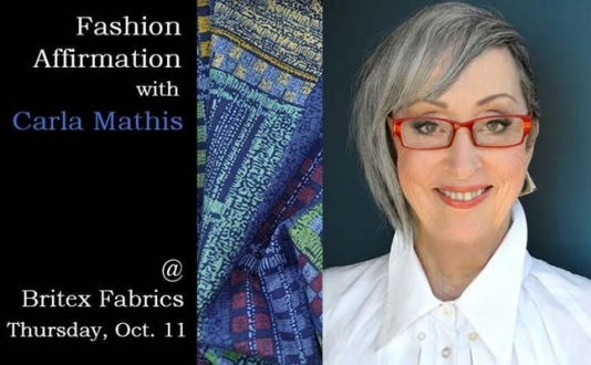 Fashion Affirmation with Carla Mathis at Britex in Union Square, San Francisco