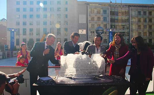 Union Square Ice Rink Opening Celebration
