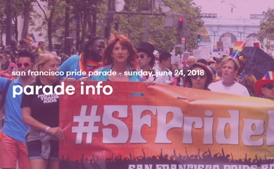 Pride Parade in Union Square and Civic Center in San Francisco