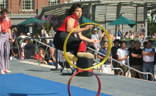 Picklewater Free Circus Festival in Union Square Park, San Francisco